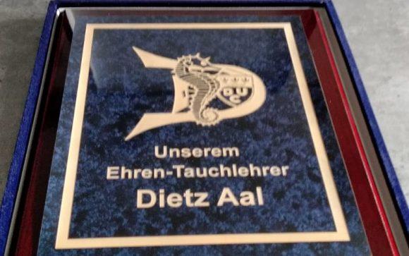Dietz Aal zum Ehrentauchlehrer ernannt